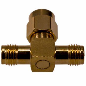 Coax Adapter RP-SMA Stecker auf 2 x RP-SMA Buchse