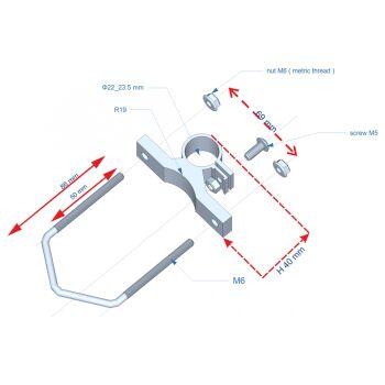 Konstruktionszeichnung Montage-Winkel