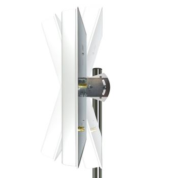 Montierte Antenne an einem Mast
