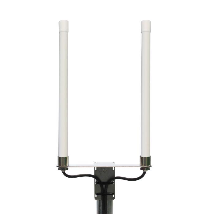 LTE Rundstrahler für alle LTE Frequenzen geeignet, weißes Kunststoff-Gehäuse, Wetterfest, 5m Kabel mit SMA Stecker für LTE Router