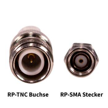 RP-SMA Stecker / RP-TNC Buchse
