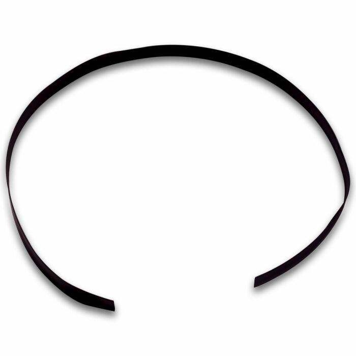 Schwarzer Schrumpfschlauch mit 9.5mm Durchmesser, 2:1 Schrumpfverhältnis, 1m