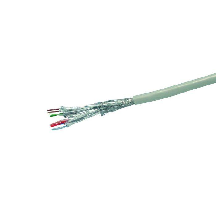 100m Ring CAT.6 Verlegekabel - SFTP, AWG23, Halogenfrei, Grau
