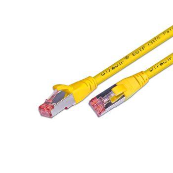CAT.6 Ethernet Kabel / Patchkabel, STP, 2 x RJ45 / PIMF, LSOH Mantel, 0.5m