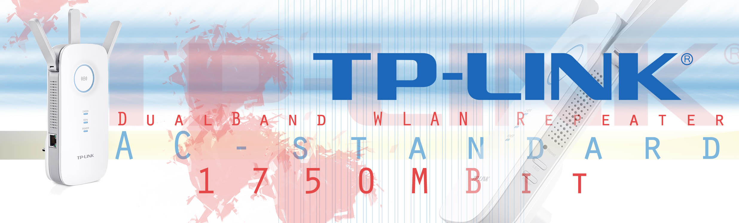 TP-Link RE450 | 2.4 / 5 GHz Dualband AC WLAN
