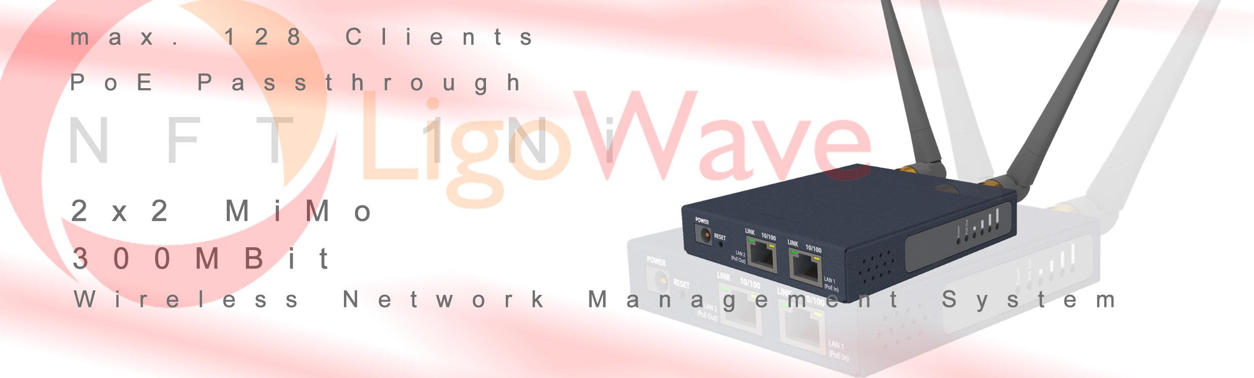 LigoWave NFT 1Ni | 2.4 GHz WLAN Access Point,
