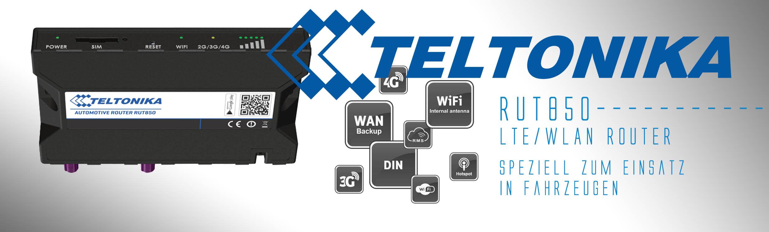 TELTONIKA RUT850 LTE / 4G Automotive Router